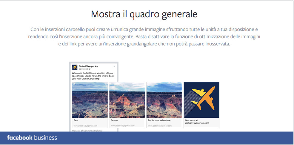 Promoted carousel FB business GENERALE