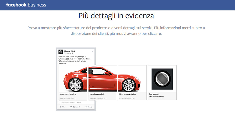 Promoted carousel FB business IN EVIDENZA