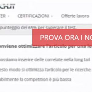 test custom personalizzato digital coach