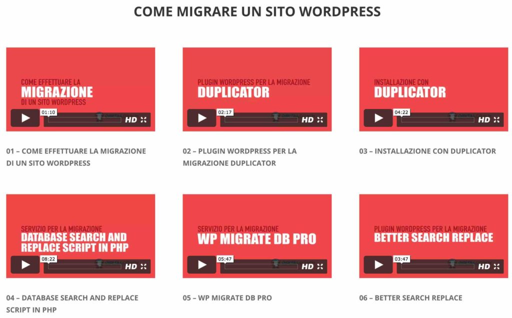 Migrare Sito WordPress