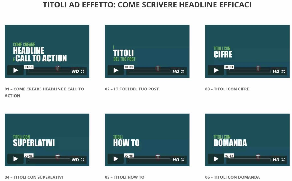 Titoli ad Effetto - come scrivere headline efficaci video tutorial