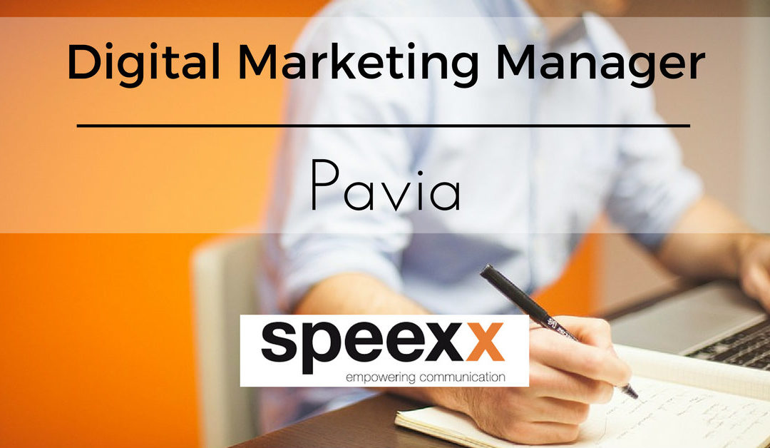 Digital Marketing Manager – Pavia – Speexx