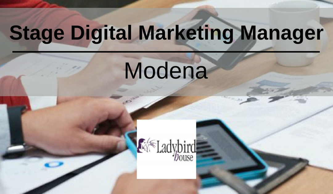 Stage Digital Marketing Manager – Modena – Ladybird House