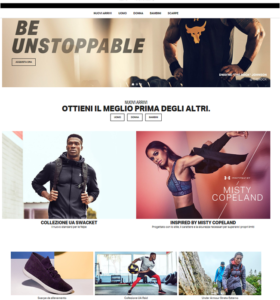 Under Armour sito