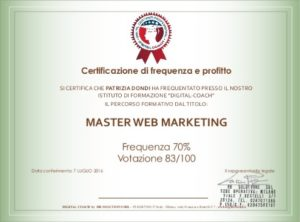 Certificazione corsi a distanza web marketing