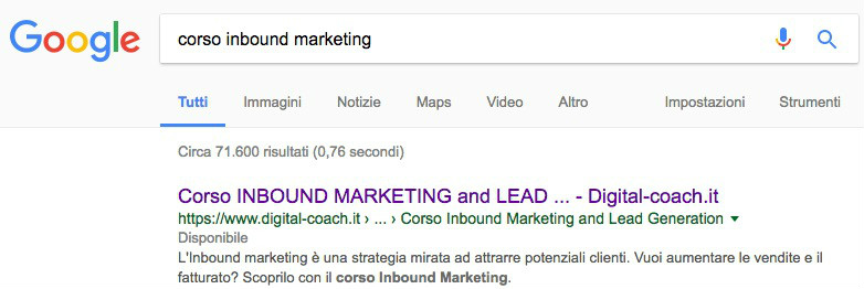 corso inbound marketing