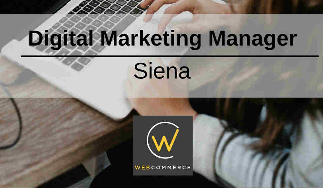 Digital Marketing Manager – Siena – Web Commerce