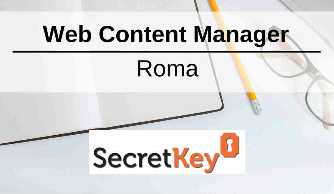 Web Content Manager – Roma – Secret Key