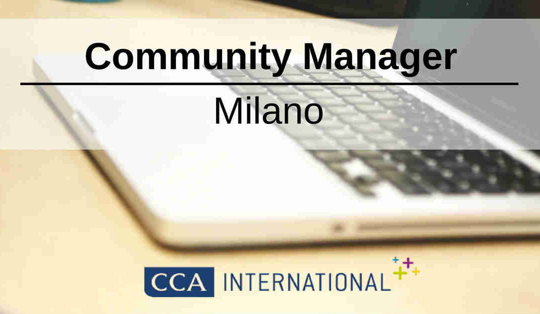 Community Manager – Milano – CCA International