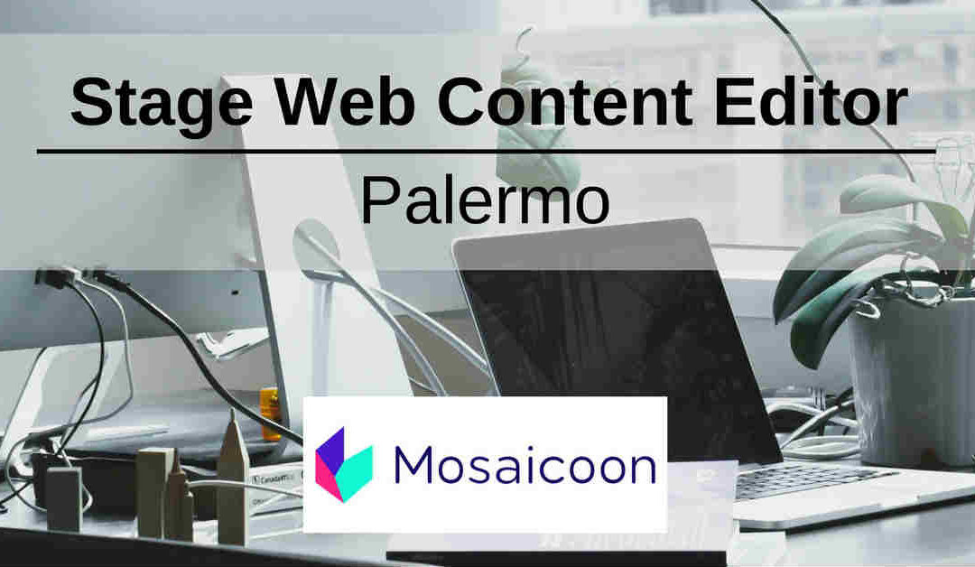 Stage Web Content Editor – Palermo – Mosaicoon