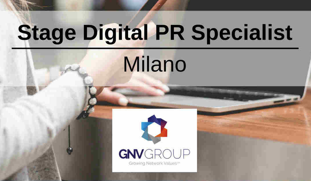 Stage Digital PR Specialist – Milano – GNV Group