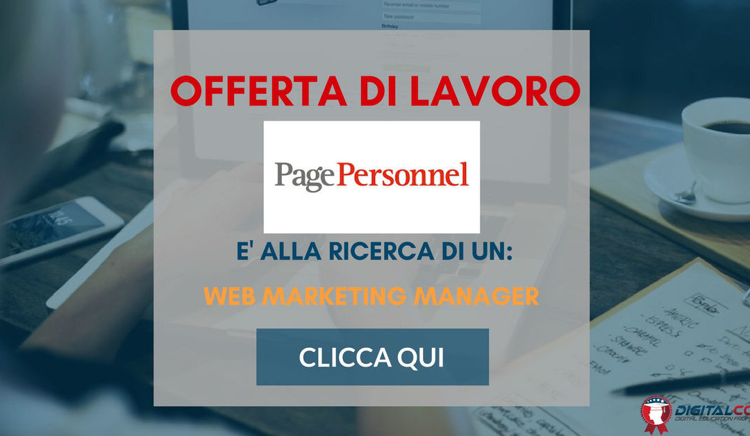 Web Marketing Manager – Milano – Page Personnel