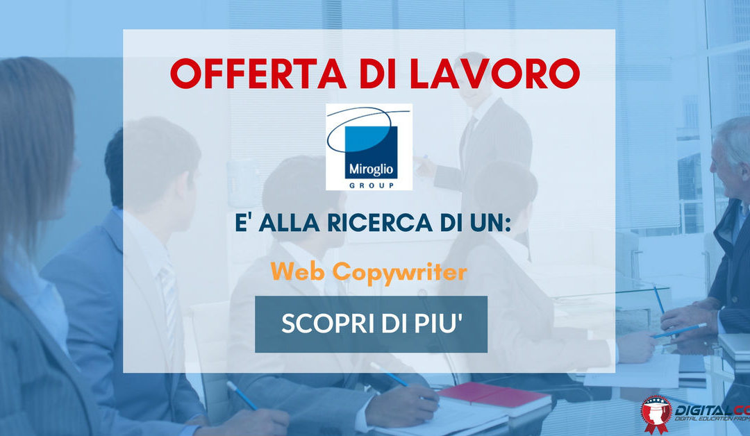 Web Copywriter – Cuneo – Miroglio Group