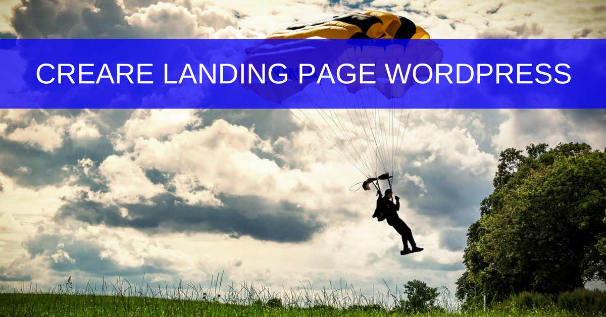 creare landing page wordpress