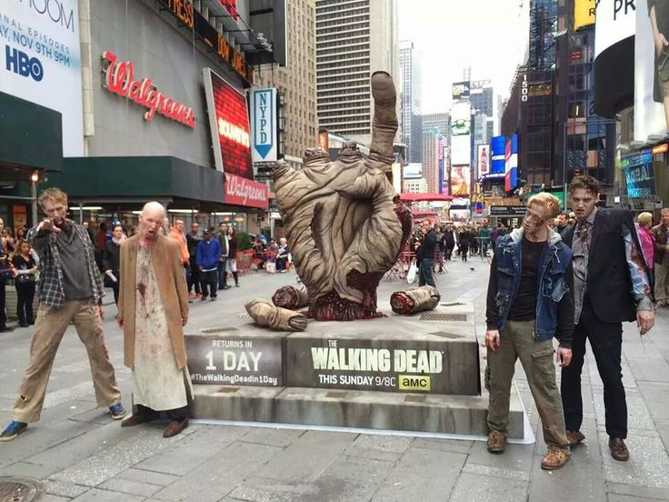 walking dead guerrilla marketing