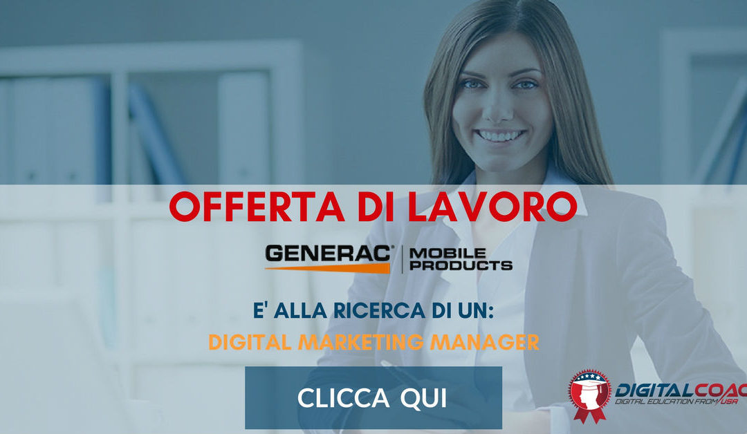Digital Marketing Manager – Pavia – Generac Mobile Products