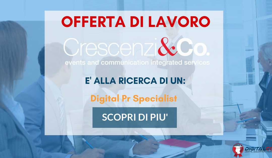 Digital Pr Specialist – Milano – Crescenzi & Co.
