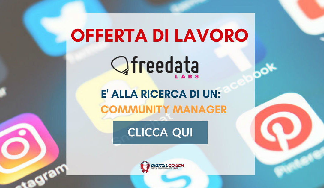 Community Manager – Milano – Freedata Labs