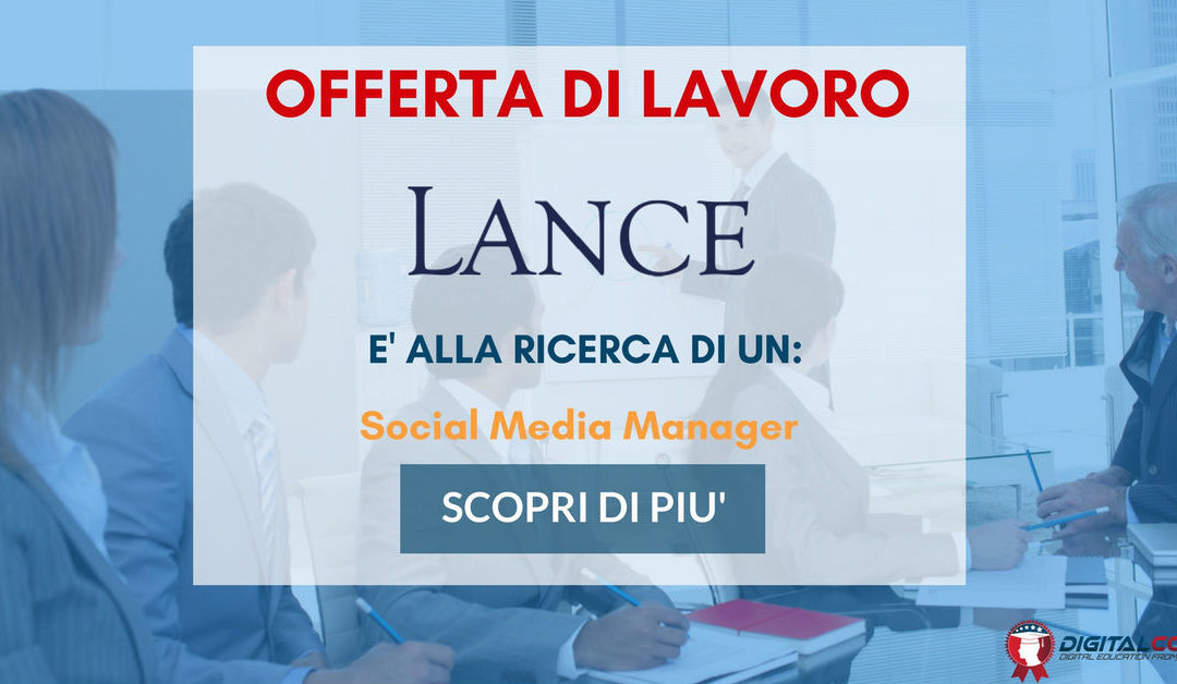 Social Media Manager – Milano – Lance Parteners