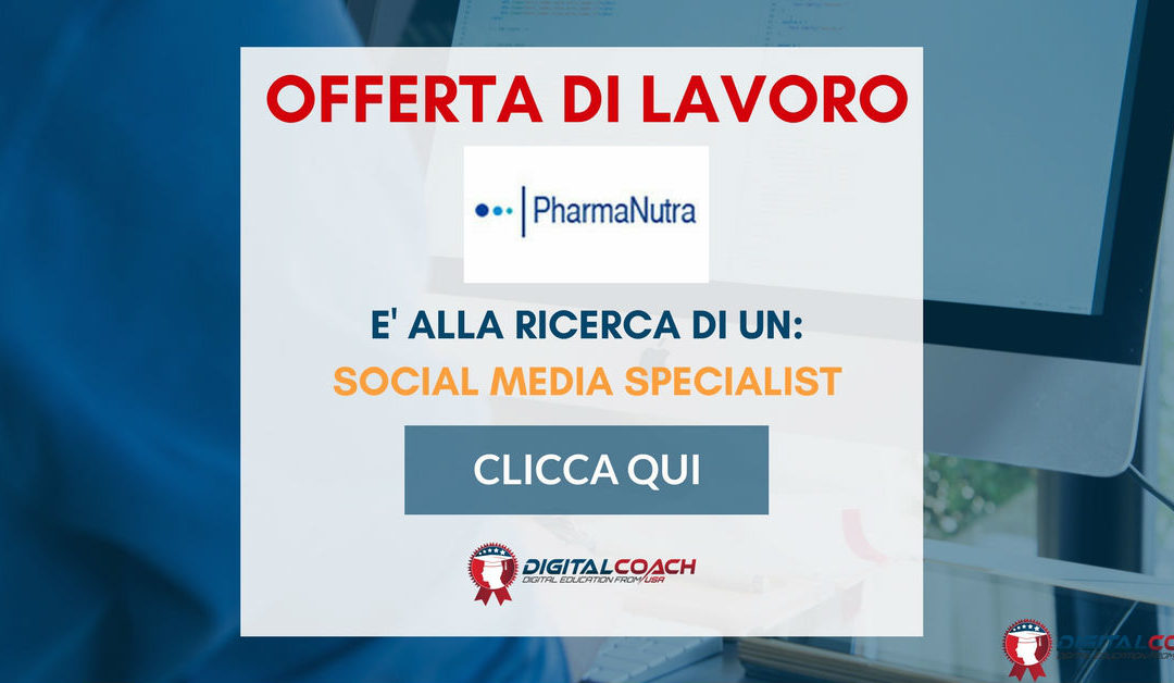 Social Media Specialist – Pisa – Pharmanutra