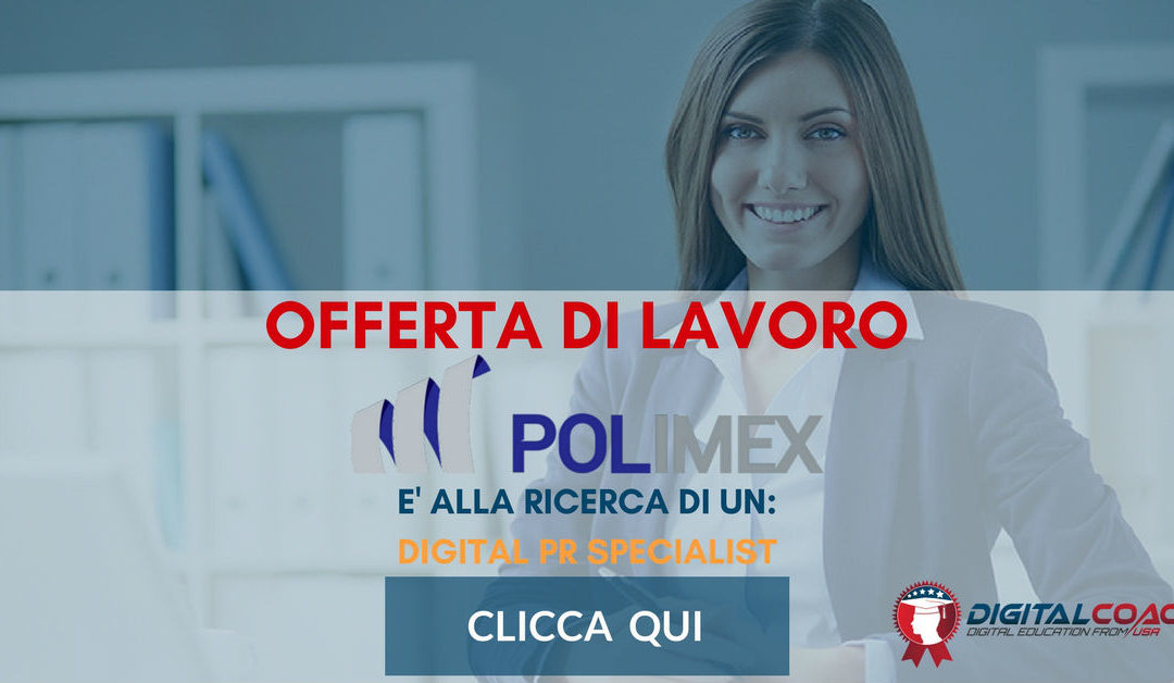 Digital Pr Specialist – Varese – Polimex Group