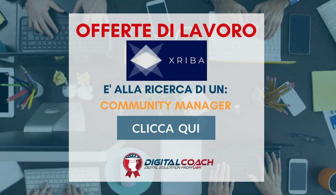 Community Manager – Milano – XRIBA