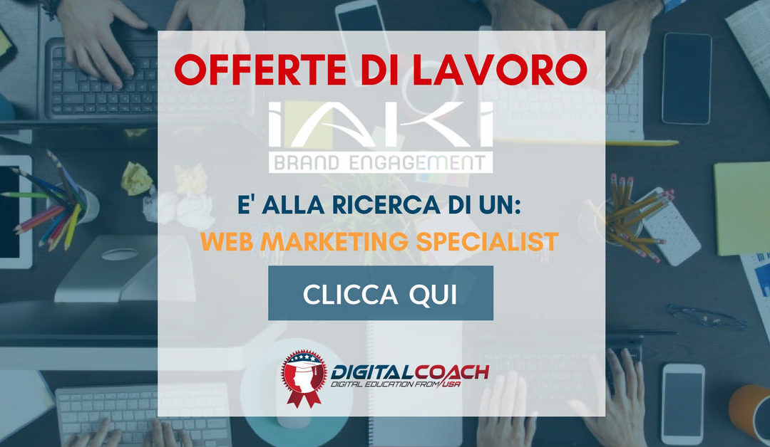 Web Marketing Specialist – Vicenza – IAKI