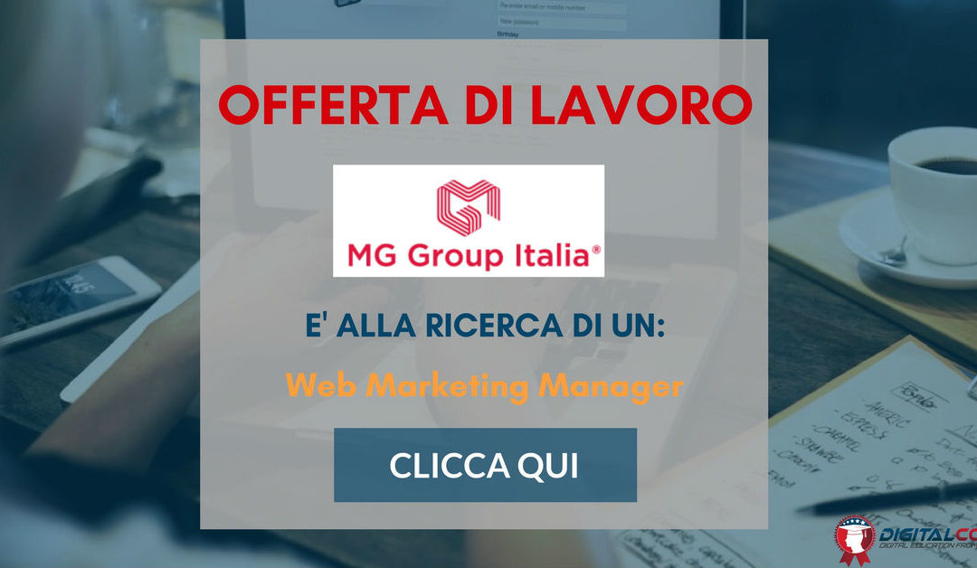 Web Marketing Manager – Siena – MG Group Italia