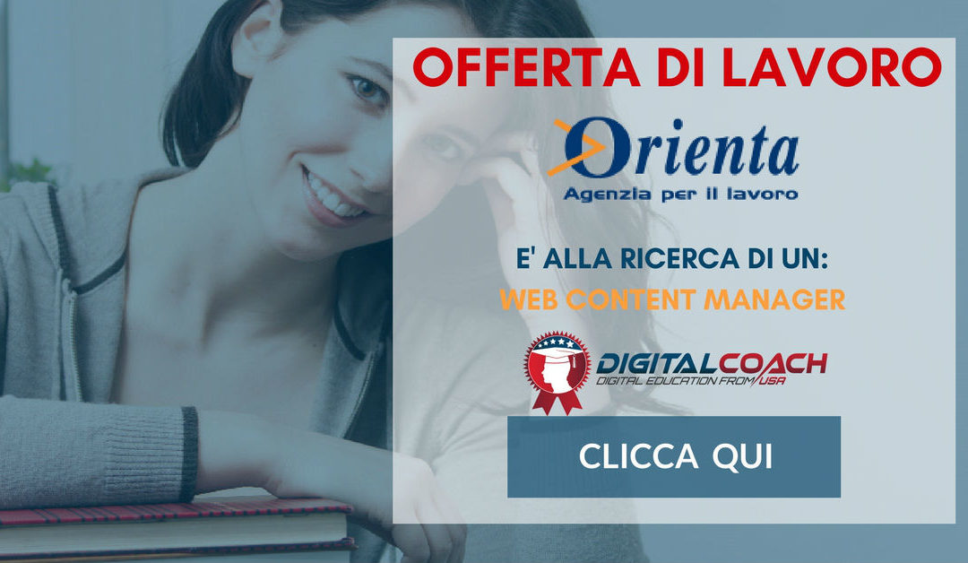 Web Content Manager – Padova – Orienta