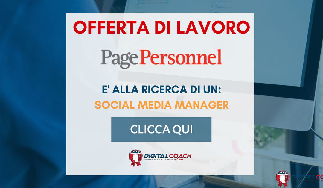 Social Media Manager – Milano – Page Personnel