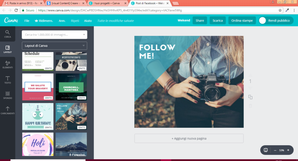 post facebook con canva