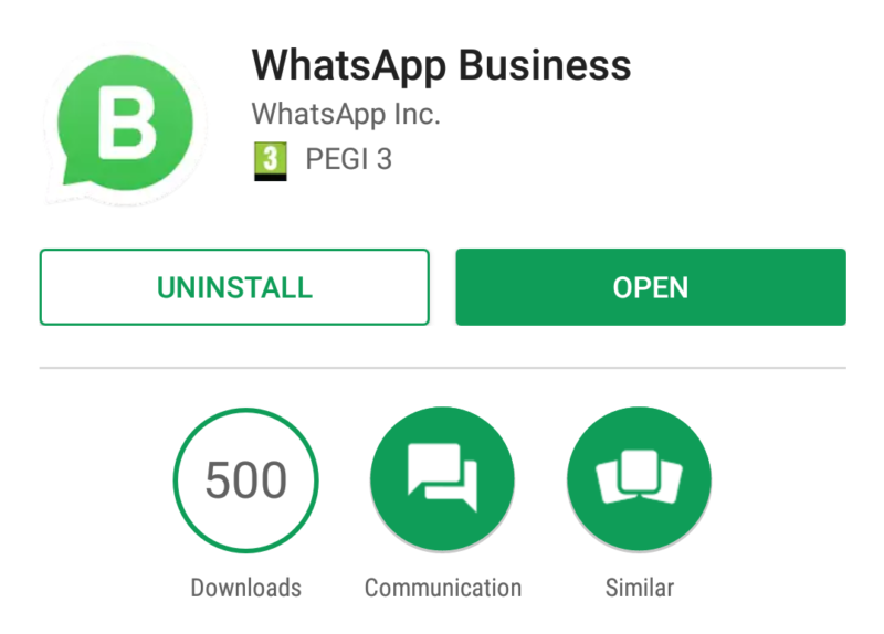 WhatsApp Business app
