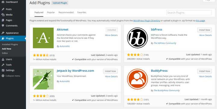 come fare il blogger plugin wordpress