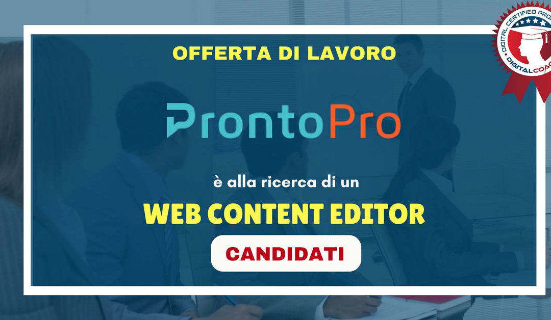 Web Content Editor – Roma – Prontopro.it