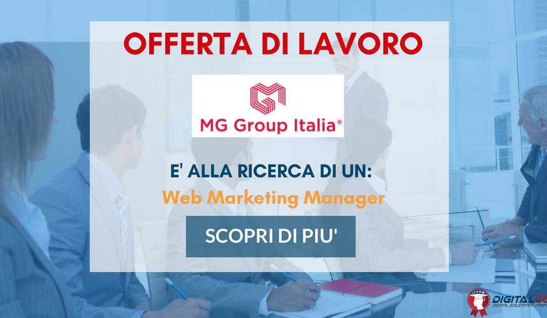 Web Marketing Manager – Siena – MG Group