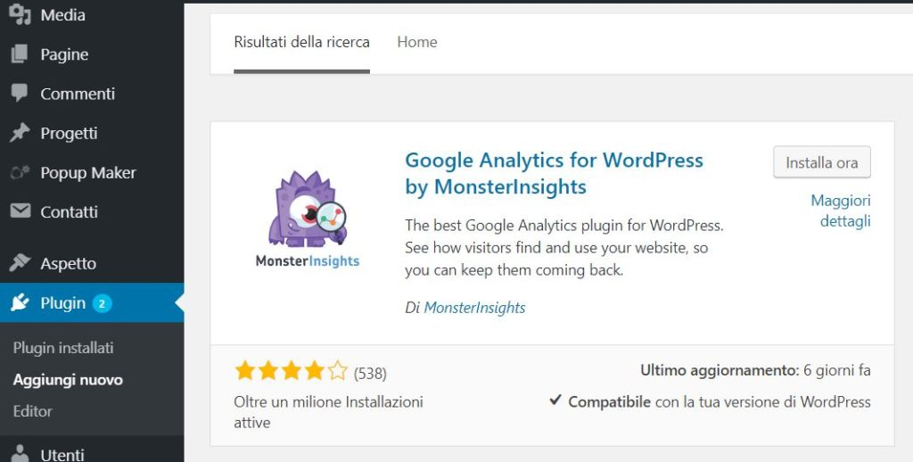 Google Analytics WordPress Plugin MonsterInsights