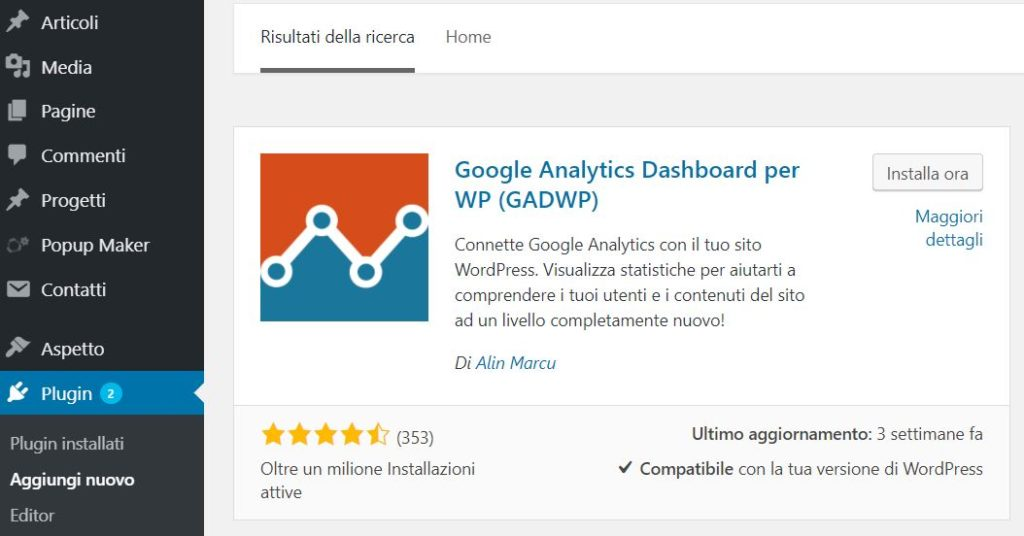 Google Analytics WordPress GA Dashboard Plugin