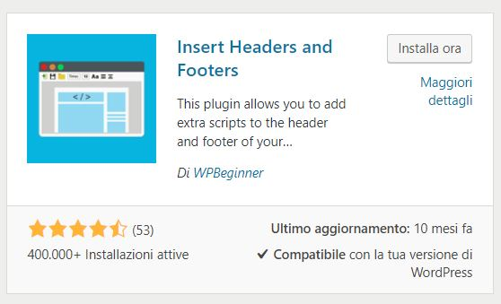 Google Analytics WordPress Plugin Insert Headers and Footers