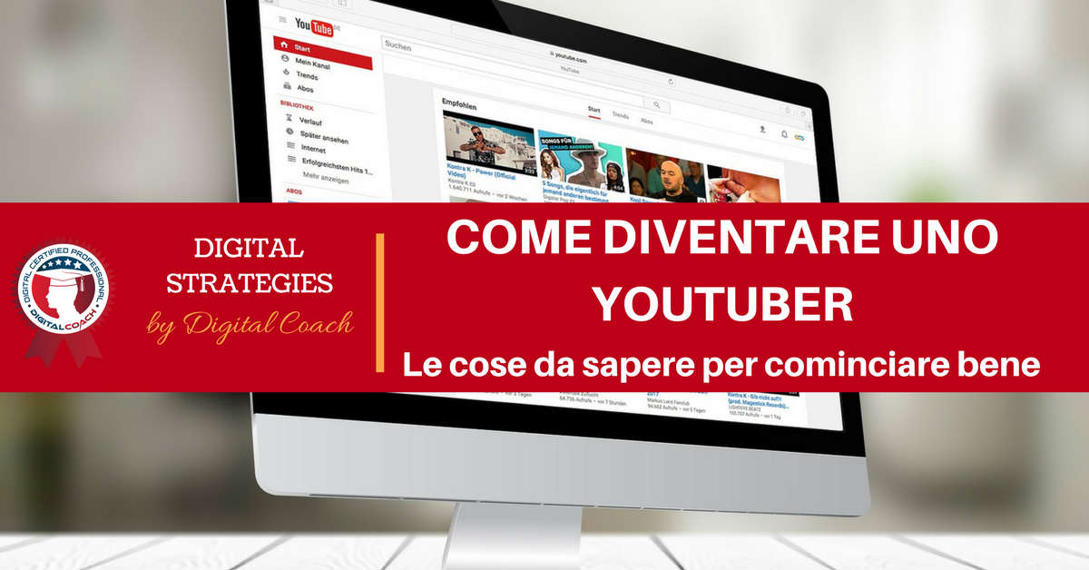 come diventare uno youtuber