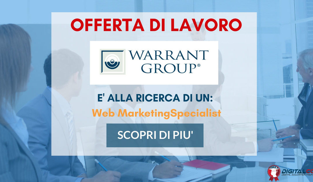 Web Marketing Specialist – Reggio Emilia – Warrant Group