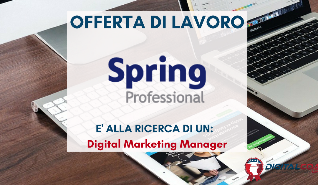 Digital Marketing Manager – Milano – Spring Professional