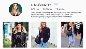 Brand Awareness: i follower di Chiara Ferragni