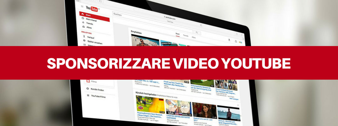 sponsorizzare video youtube