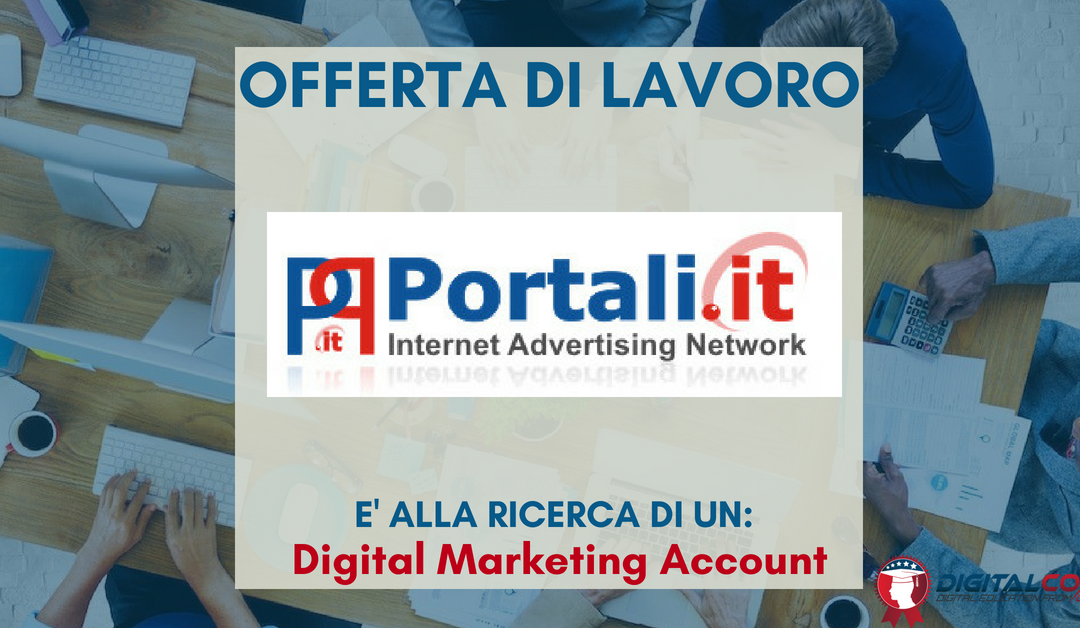 Digital Marketing Account – Italia – Portali.it