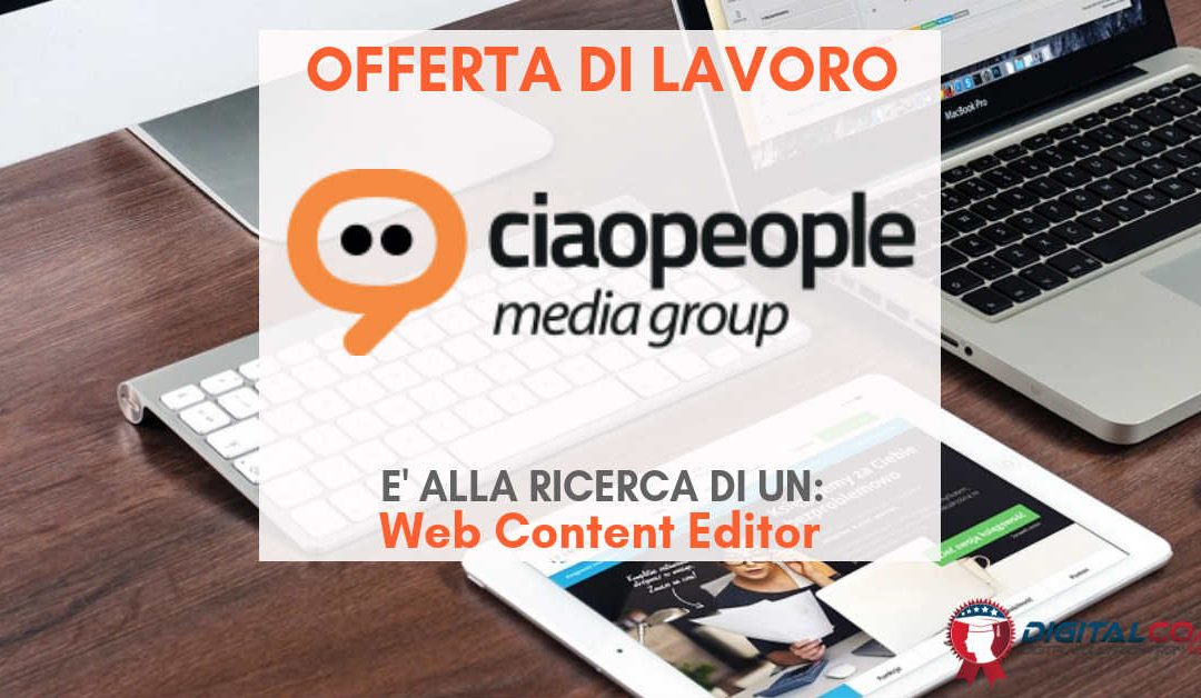 Web Content Editor – Napoli – Ciaopeople