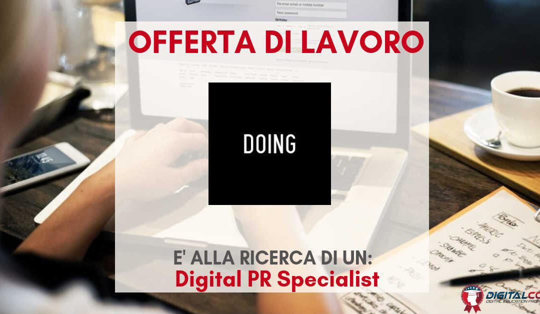 Digital PR Specialist – MIlano – DOING
