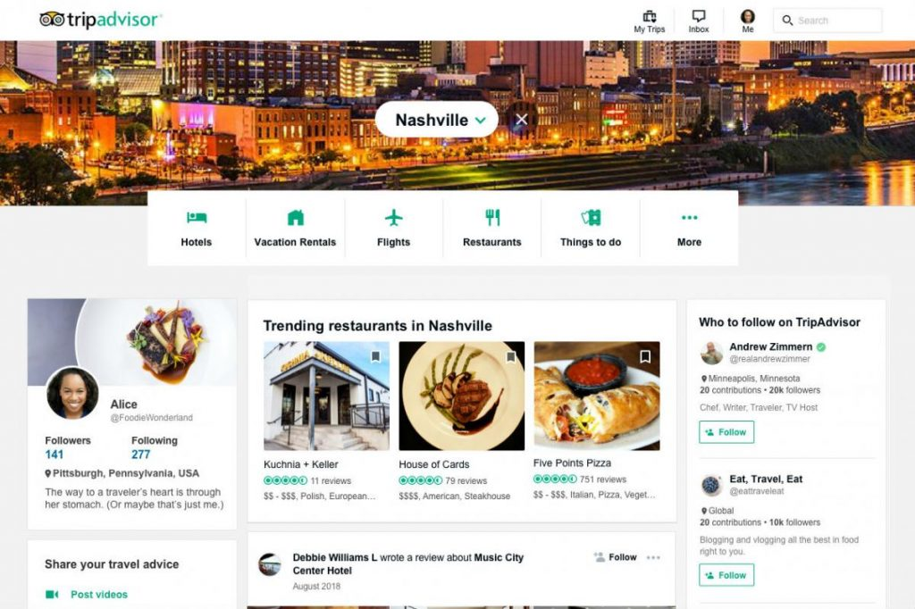 TripAdvisor social marketing