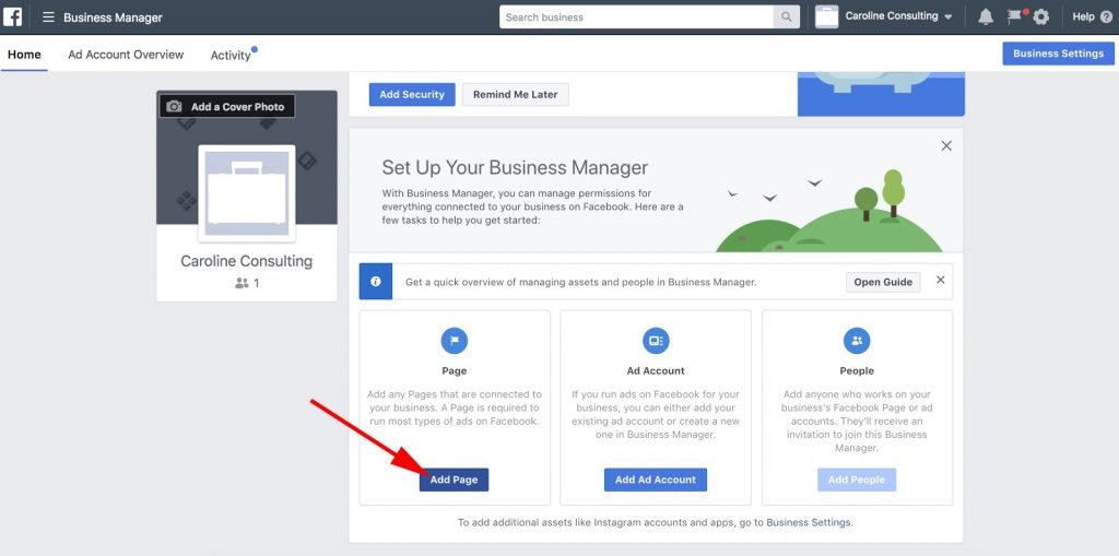 dashboard facebook business manager