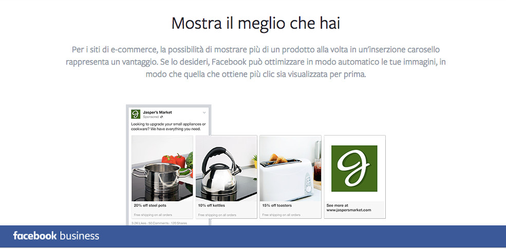 Promoted carousel FB business MOSTRA