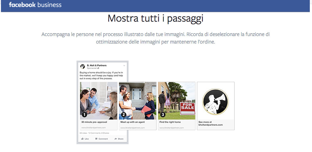 Promoted carousel FB business PASSAGGI